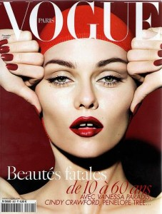 Vogue Cover Paris November 2008 with Vanessa Paradis
