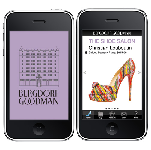 Bergdorf goodman launches shoe salon app fashion lifestyle pr professionals pr couture - Bergdorf goodman shoe salon ...