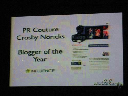 PR Couture's Crosby Noricks Wins Blogger of the Year
