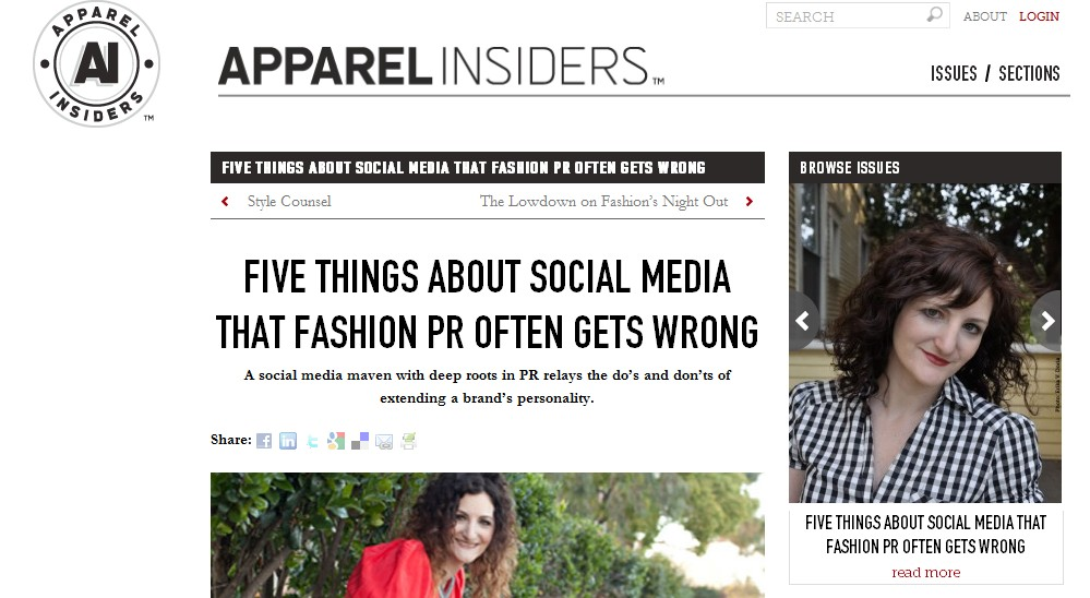 Five Things about Social Media that Fashion PR Often Gets Wrong