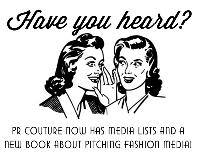 Fashion PR Book + Media Lists