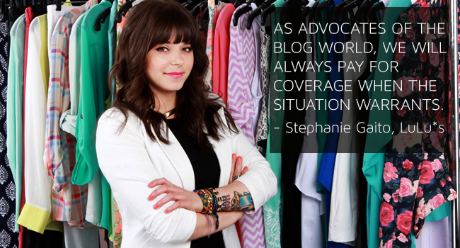 Stephanie, LuLus, Blog Program Manager