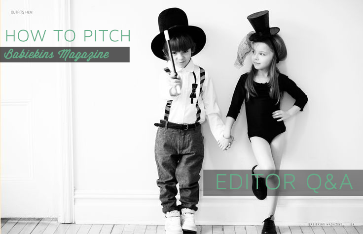 Fashion, Children's PR How to pitch BABIEKINS magazine