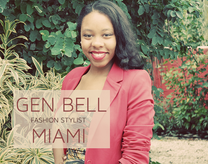 Fashion stylist Gen Bell