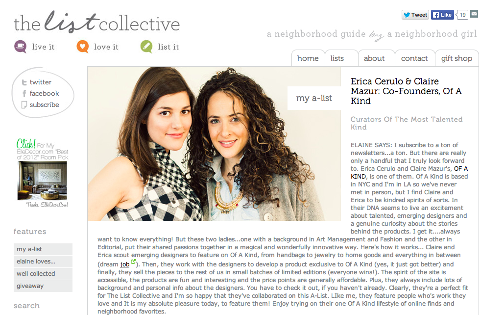 Erica Cerulo   Claire Mazur  Co Founders  Of A Kind