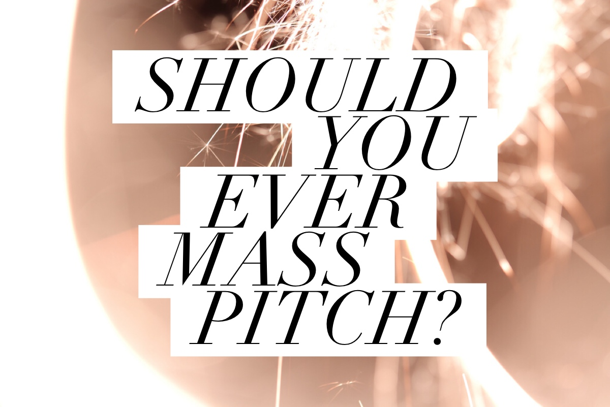 Is a mass pitch always a PR Fail?