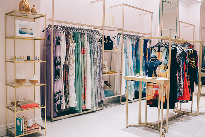 Rent the Runway's first brick-and-mortar store in Chicago.