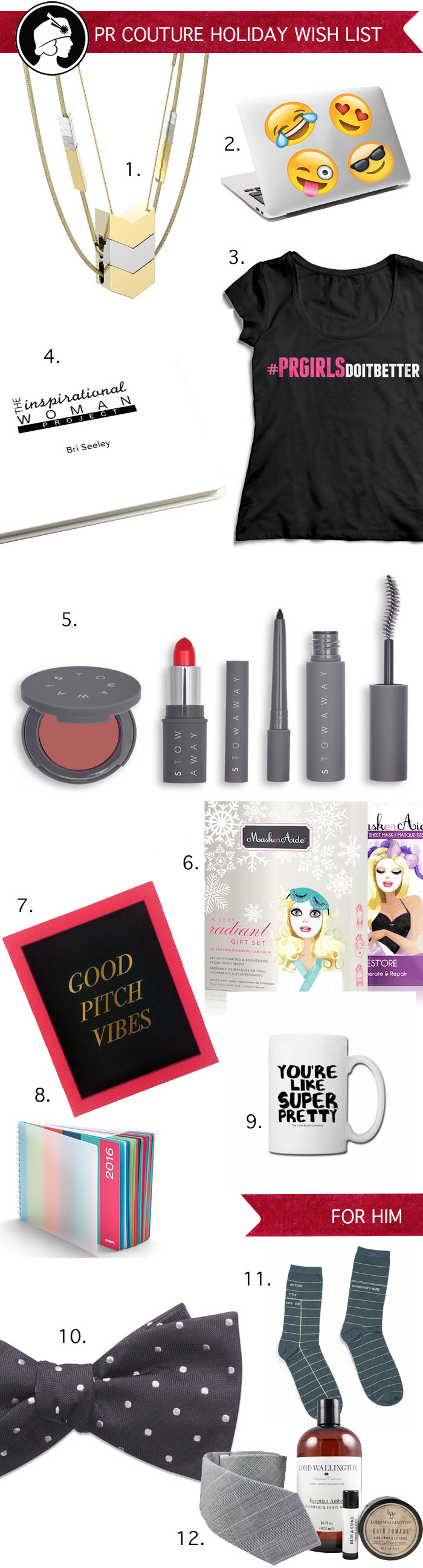 PR Couture Holiday Gift Guide Gifts Ideas for PR Girls and Guys