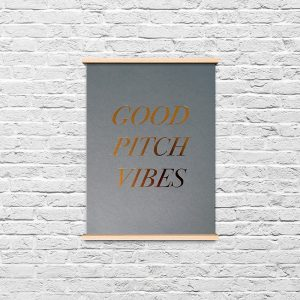 Good Pitch Vibes Only Print PR Girl Office