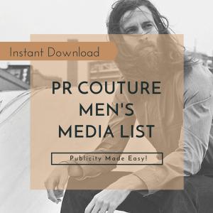 Media List- Mens
