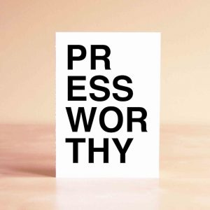 Press Worthy Thank You Greeting Card