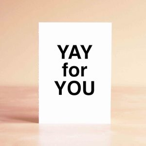 Yay for You Thank You Greeting Card