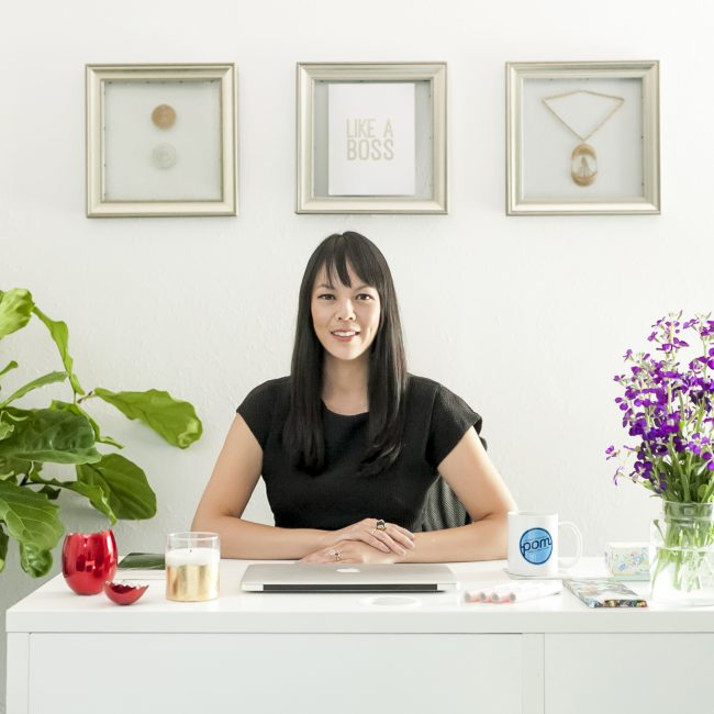 Kristen Chin at POM PR Office