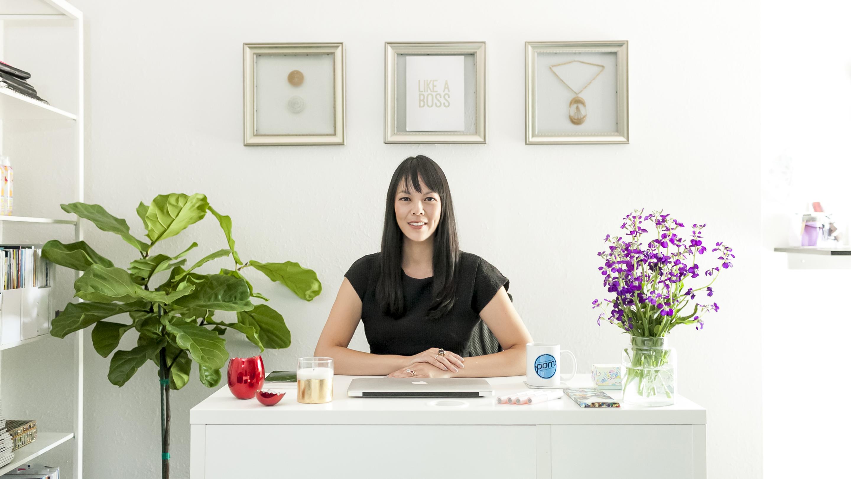 Kristen Chin at POM PR Office