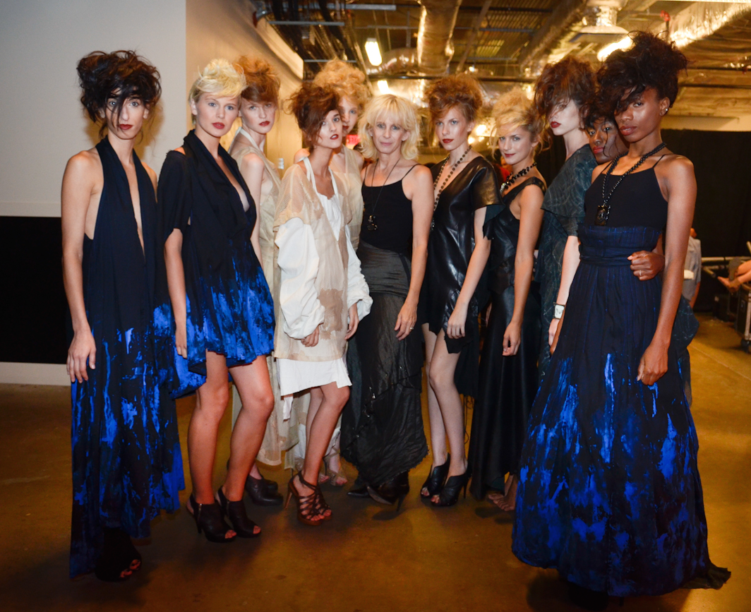 Backstage at Austin Fashion Week 2011 with Designer Gail Chovan Credit: Jesse Knish