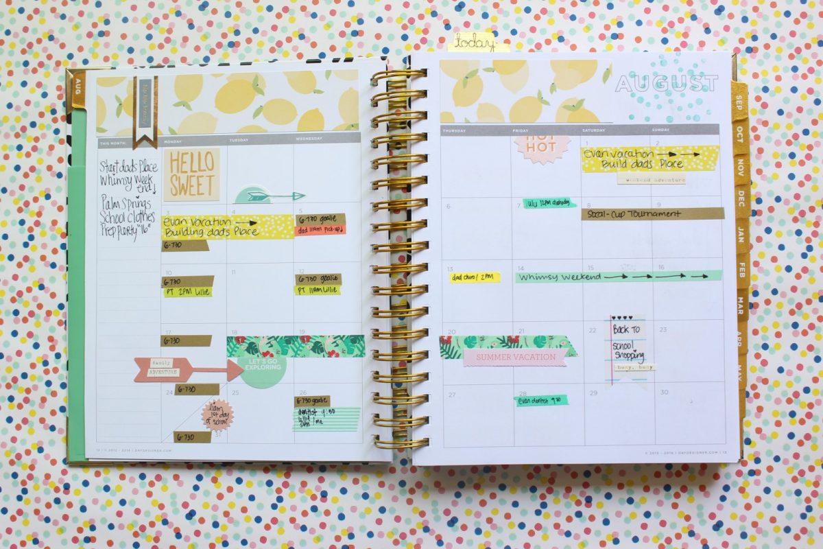 Day Designer Work Planner Life Planner Image: Polka Dot Whimsy