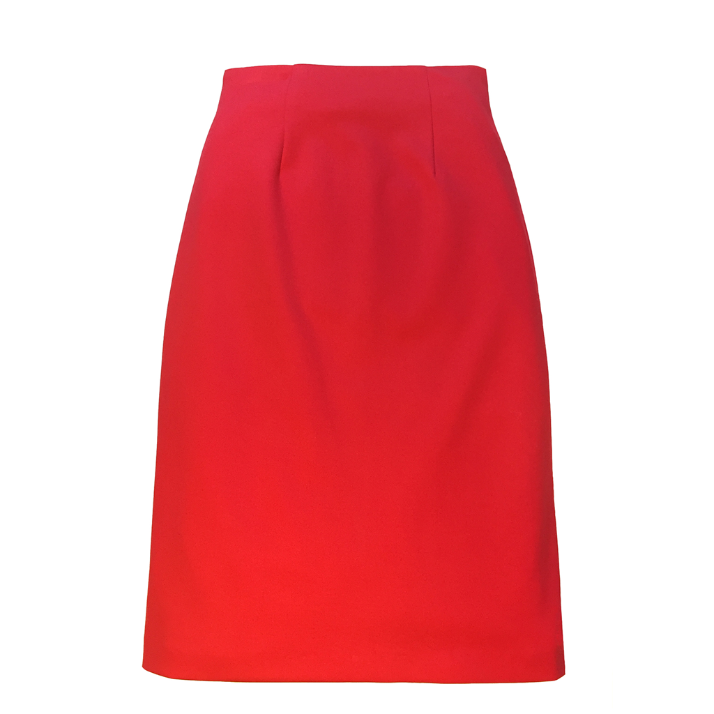 klarety-high-waiste-red-skirt