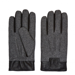 Ted Baker HERBERT Mouliné leather trim gloves