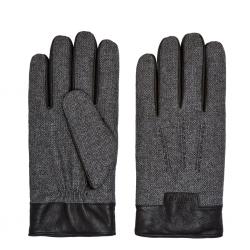 Ted Baker HERBERT Mouliné leather trim gloves