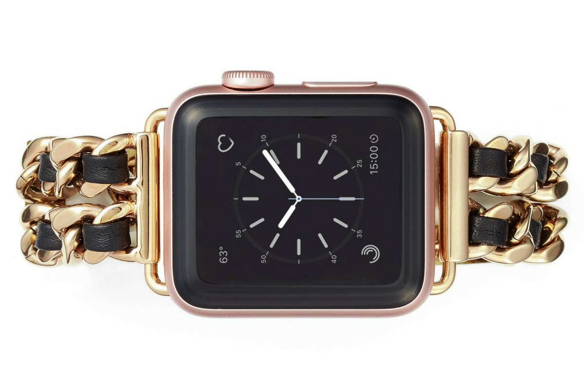 Right on TimeFor the PR grad keeping an eye on her texts, emails and daily steps via her Apple Watch, a Bezels & Bytes band is the perfect style upgrade. She'll be thrilled to ditch the nylon and show off her new classy look.  Chainlink and Leather Apple Watch Band, $98, available at Nordstrom