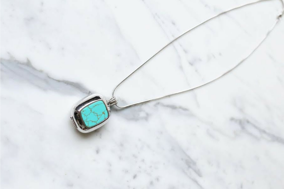 Safety First Safety is now stylish thanks to this collab between personal safety device company Revolar and sustainable jewelry brand Cerimani. A simple press of the pendant will send an alert for help. Choose from either Moonstone or Turquoise.  Revolar x Cerimani Necklace, $250, available for presale May 1 Revolar
