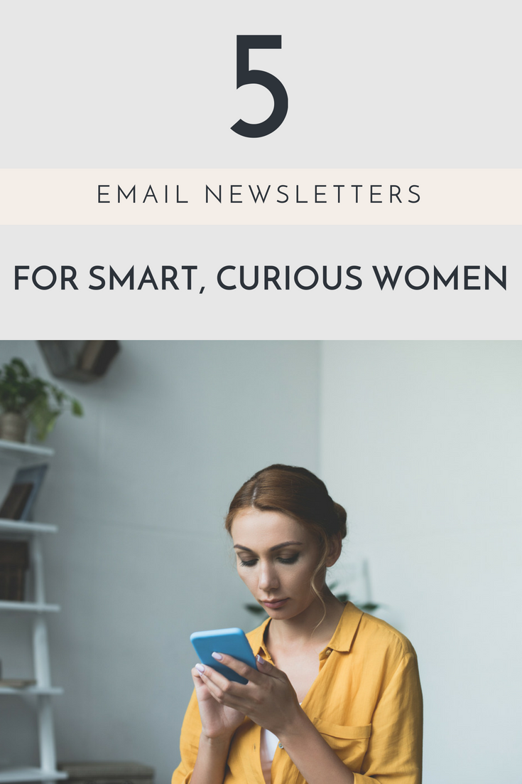 5 email newsletters for smart, curious and stylish women, curated by PR Couture Founder Crosby Noricks