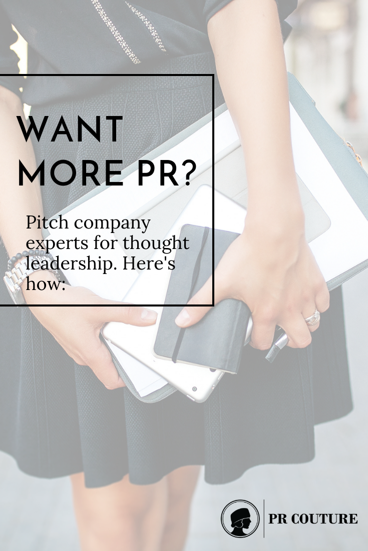Looking for more PR opportunities? Look no further than to the experience and perspectives within a brand or organization! Thought leadership is a powerful way to extend a brand story. #thoughtleadership #publicrelations #branding #promotion #publicity #prtips #gettingPR #mediacoverage