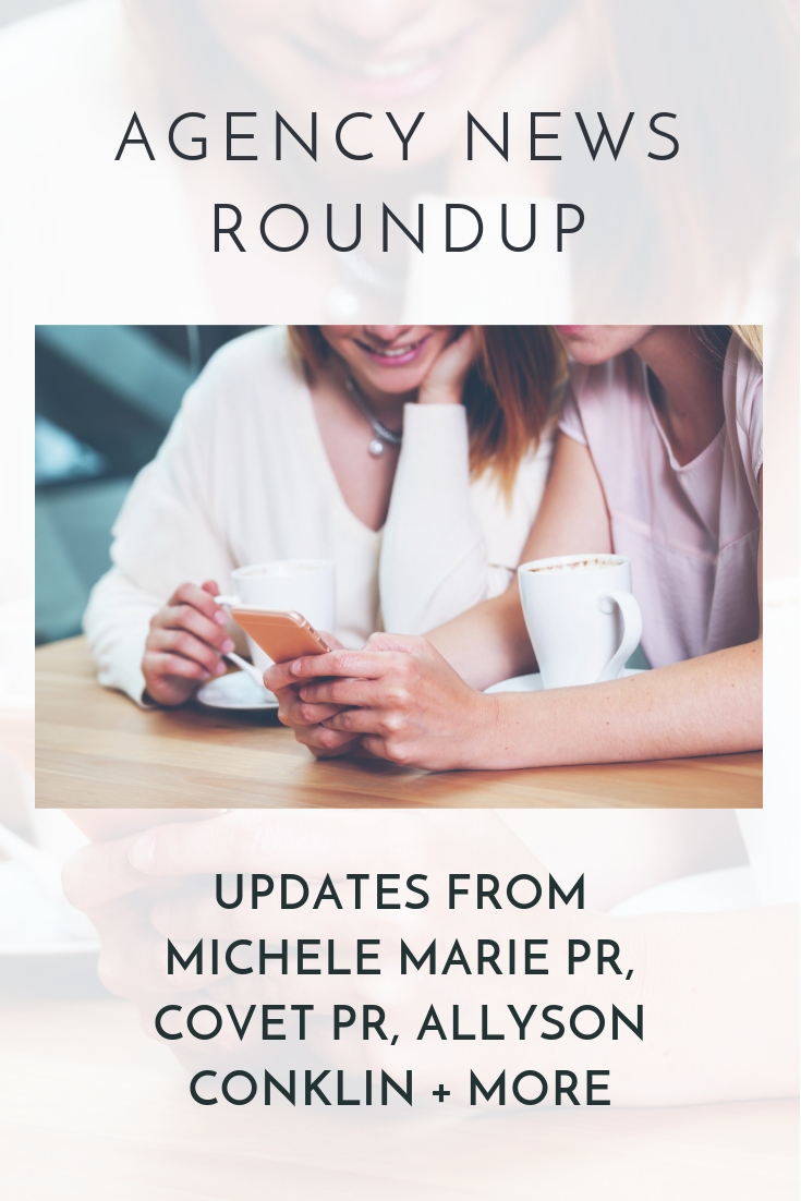 Get the latest industry news updates from Michele Marie PR, Covet, Allyson Conklin + more