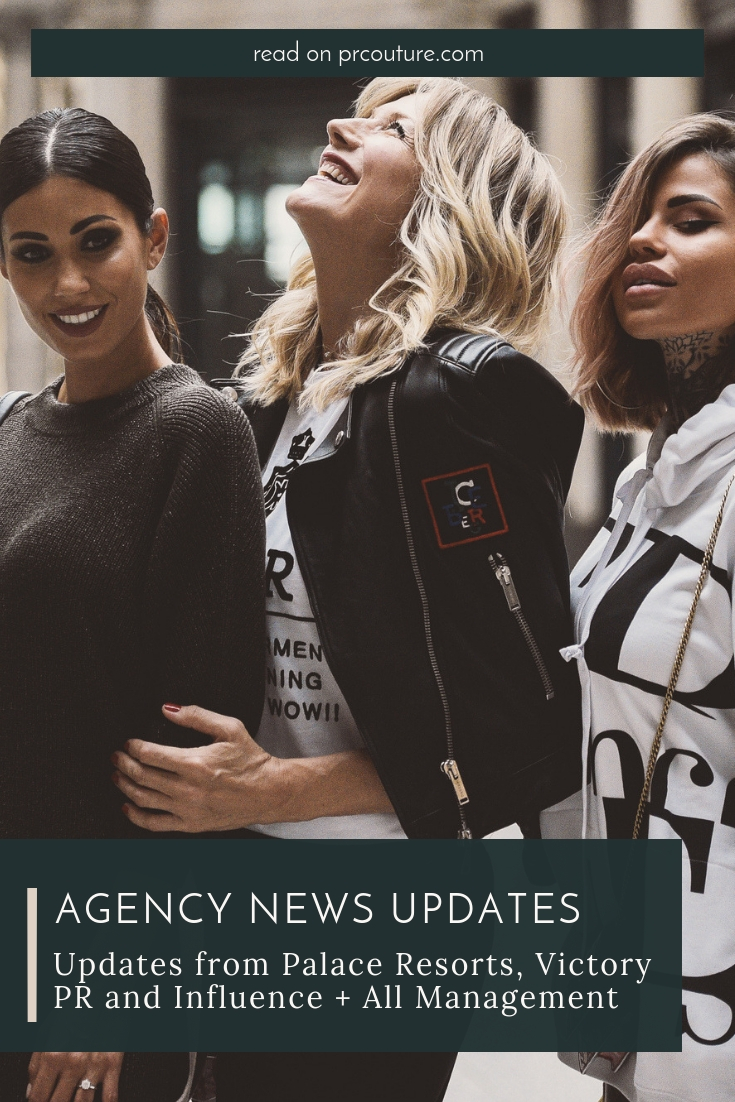 Get the latest in industry news from Hinge Global, Palace Resorts, Influence + All Management and Victory PR