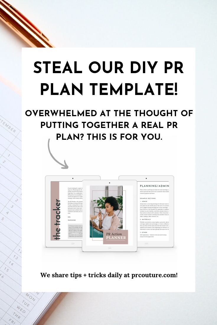 Opt in: Free DIY PR Plan Template