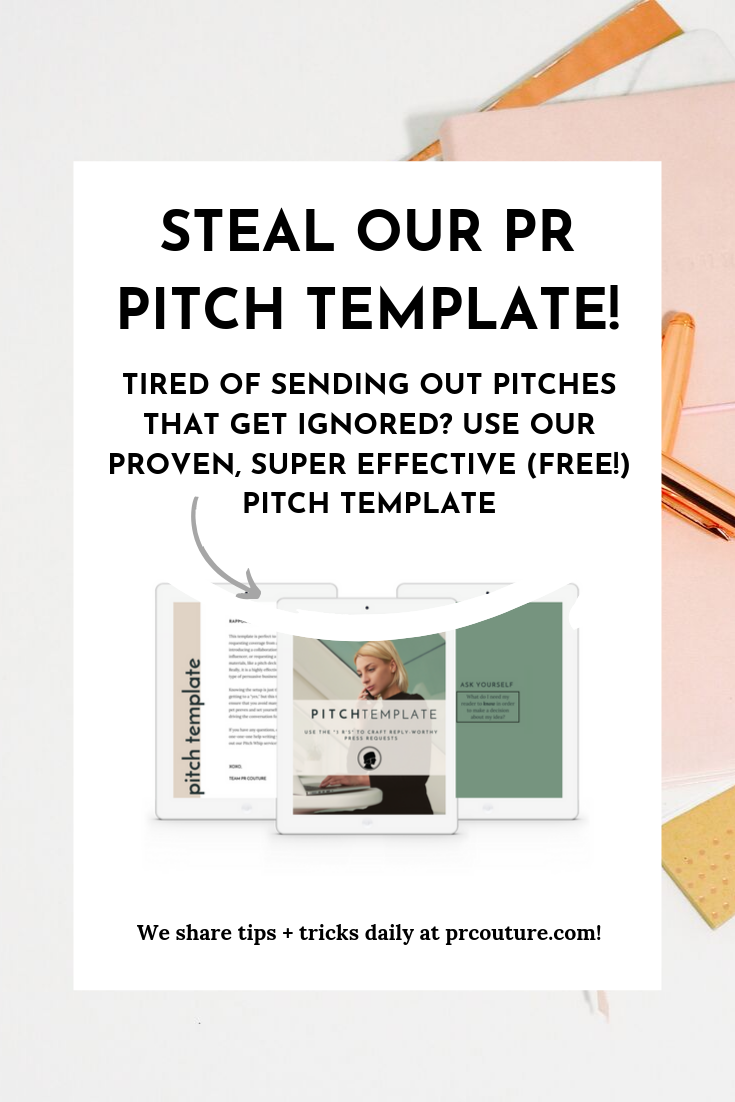 Looking for a PR pitch template? Look no further, PR pro. Click through for a press release pitch template that gets results, over and over again. #PR #publicrelations #freetemplate #pitchtemplate
